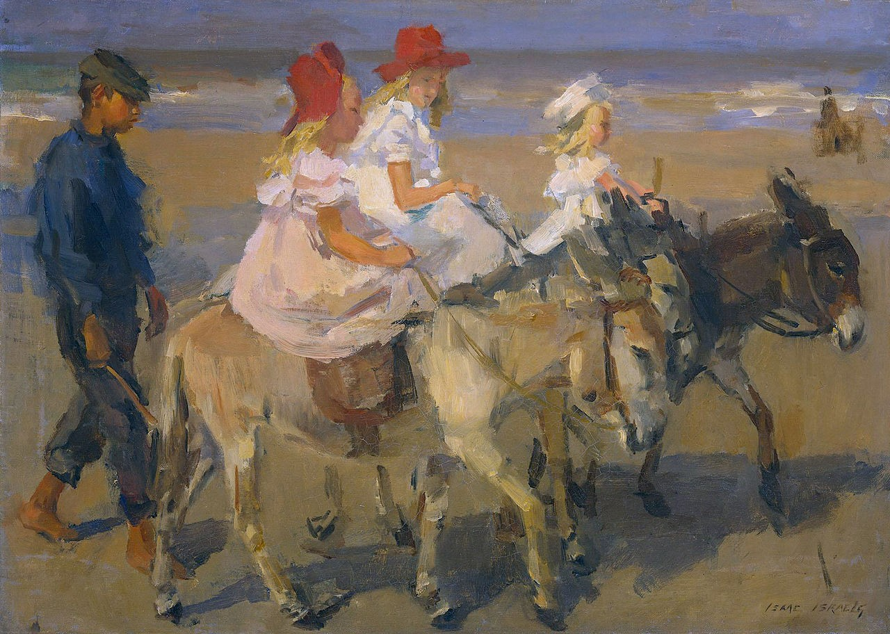 Donkey Riding On The Beach 1898-1900